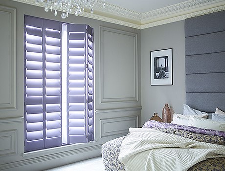 Wide Slats On Custom Colour Full Height Shutters