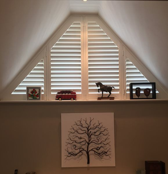 From arches to triangles to sunbursts, we custom make shutters in all shapes and sizes. *Surcharge applies