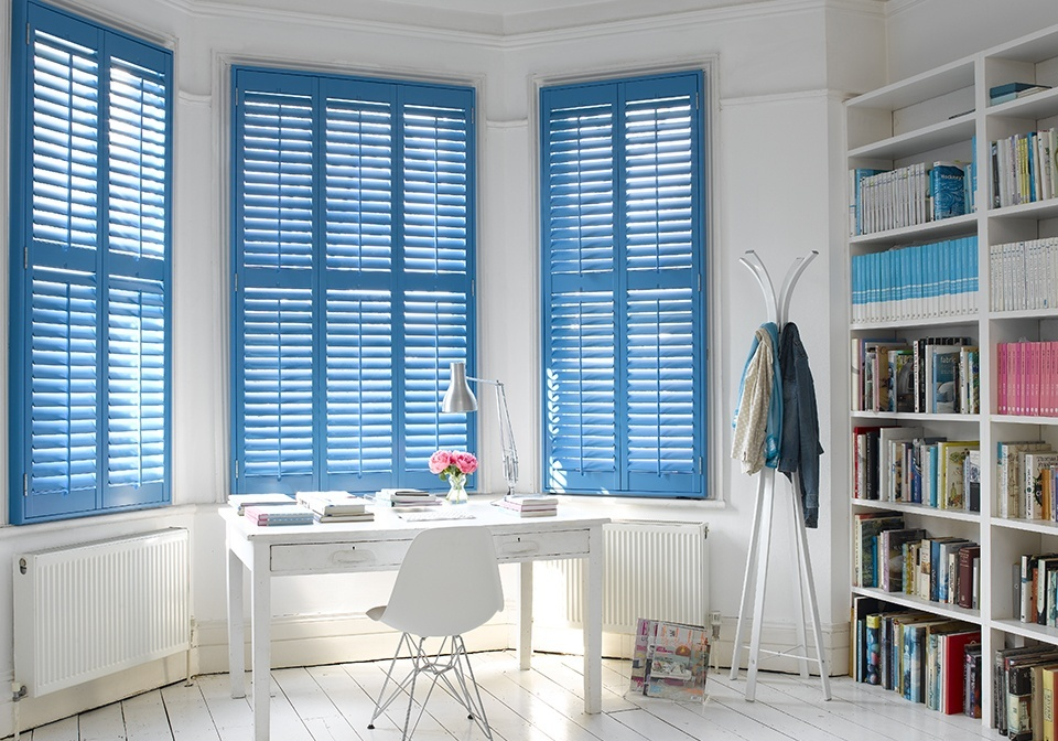 Bay Window Shutter Inspriation Simple Blue