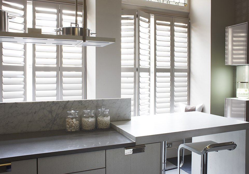 Superieur Designer Kitchen Shutters Finished In Plaster