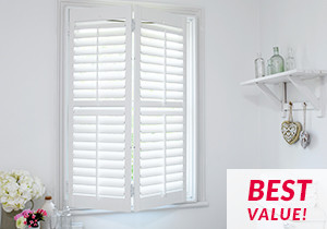 Affordable Basswood shutters
